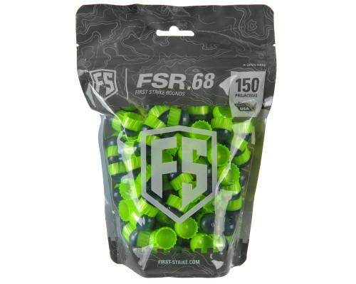 First Strike .68 Caliber Paintballs - FSR - 150 Rounds - Smoke/Green Shell Green Fill