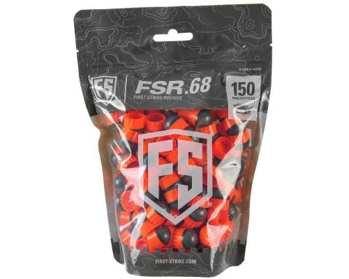 First Strike .68 Caliber Paintballs - FSR - 150 Rounds - Smoke/Orange Shell Orange Fill