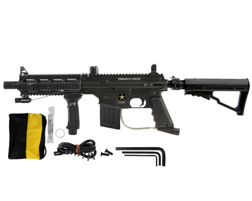 US Army Project Salvo Breech & Clear Paintball Gun Package
