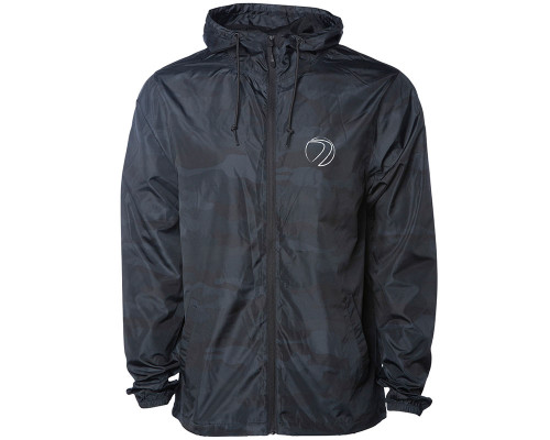 Dye Zip Up Windbreaker Jacket - Gas Lamp