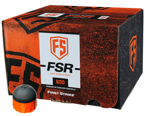 First Strike .68 Caliber Paintballs - FSR - 600 Rounds - Smoke/Orange Shell Orange Fill