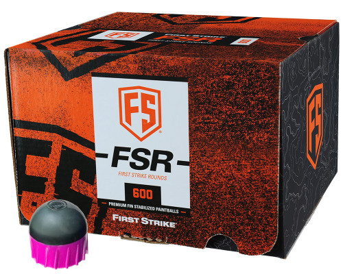 First Strike .68 Caliber Paintballs - FSR - 600 Rounds - Smoke/Pink Shell Pink Fill