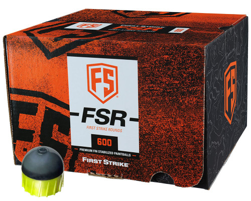 First Strike .68 Caliber Paintballs - FSR - 600 Rounds - Smoke/Yellow Shell Yellow Fill