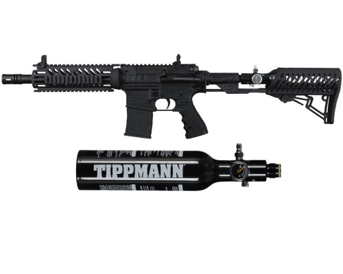 Tippmann TMC Paintball Gun w/ TMC Adjustable Air-Thru Stock w/ Free 13/3000 Tank