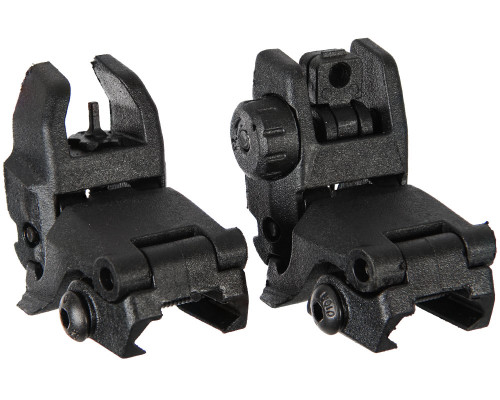 Warrior Universal Front & Rear Flip Up Sights