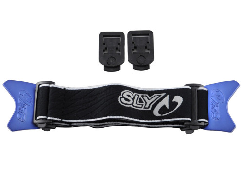 SLY PROFIT Goggle Strap - Black and Blue