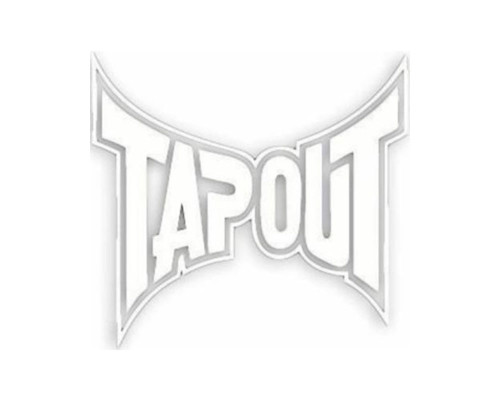 MMA Sticker - Tapout (White)