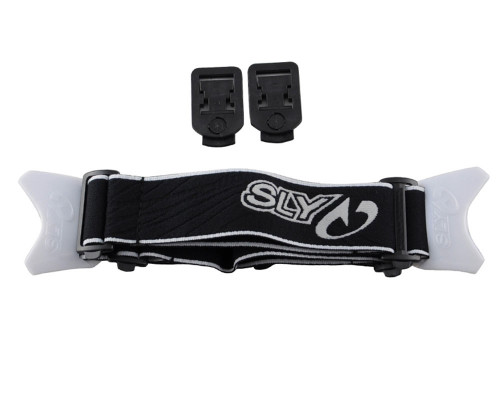 SLY Profit Goggle Strap - Black and White