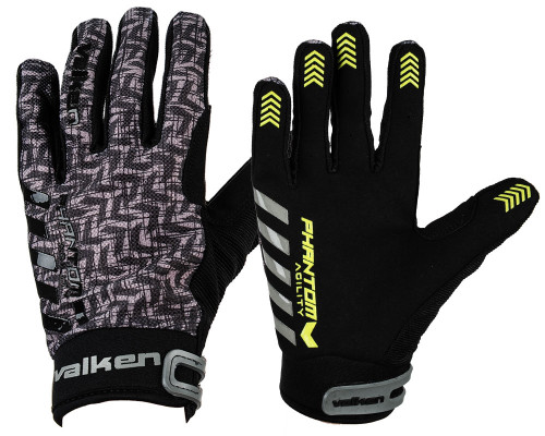 Valken Paintball Gloves - Phantom Agility (Black/Grey)