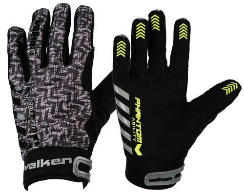 Valken Paintball Gloves - Phantom Agility (Black/Grey)