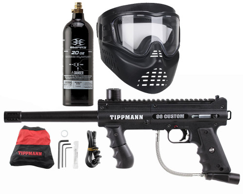 Gun Package Kit - Tippmann 98 ACT Platinum w/ 20oz CO2 Tank & GxG Mask