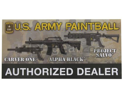 Paintball Sticker - Tippmann Authorized Dealer (Army)