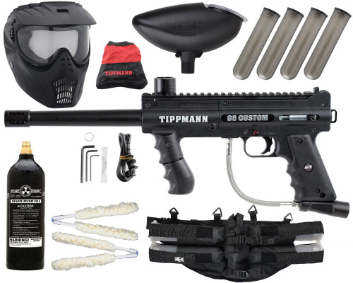 Gun Package Kit - Tippmann 98 ACT Platinum w/ 4+1 Harness, 20oz CO2 Tank & X-Ray Mask