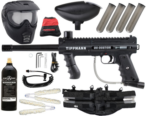Gun Package Kit - Tippmann 98 ACT Platinum w/ 4+1 Harness, 20oz CO2 Tank, GxG Mask & Remote Line