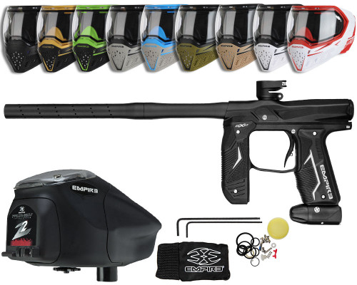 Empire Axe 2.0 Gun, EVS Googles & Prophecy Z2 Package Kit - Dust Black/Dust Black