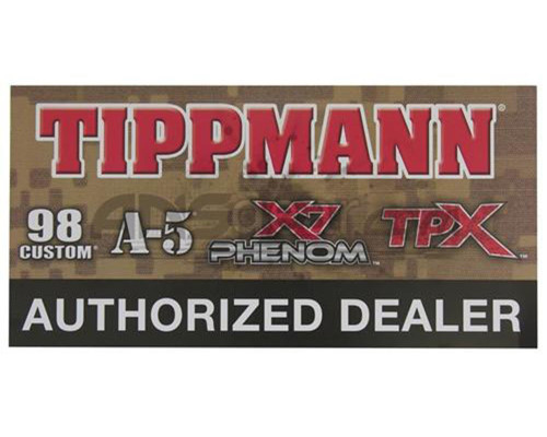 Paintball Sticker - Tippmann Authorized Dealer (Guns)
