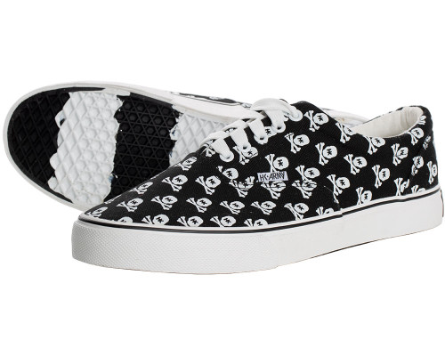 HK Army Skull Black Canvas Sneakers