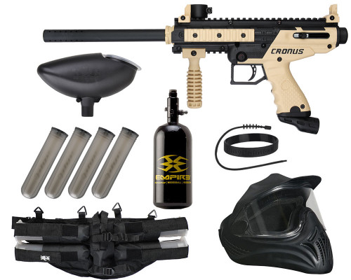 Legendary Gun Package Kit - Tippmann Cronus Basic - Tan/Black