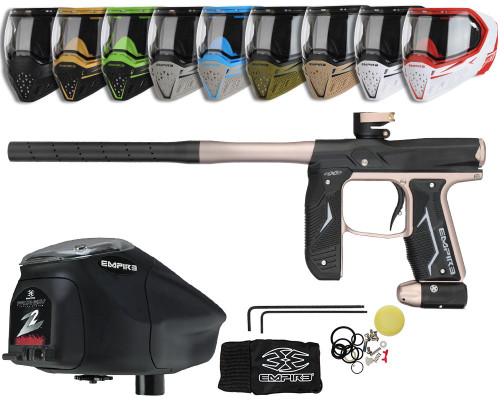 Empire Axe 2.0 Gun, EVS Googles & Prophecy Z2 Package Kit - Dust Black/Dust Copper