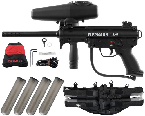 Gun Package Kit - Tippmann A5 RT w/ 4+1 Harness