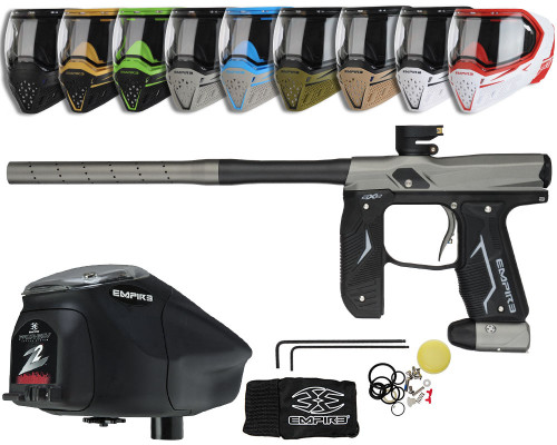Empire Axe 2.0 Gun, EVS Googles & Prophecy Z2 Package Kit - Dust Black/Dust Grey