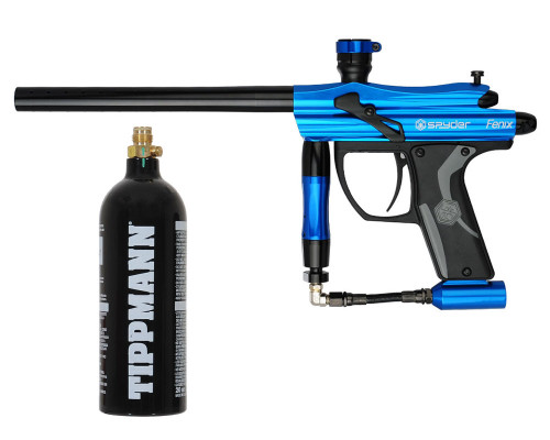 Kingman Spyder Fenix Paintball Gun w/ Free 20oz CO2 Tank - Gloss Blue