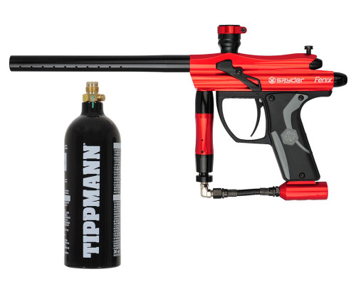 Kingman Spyder Fenix Paintball Gun w/ Free 20oz CO2 Tank - Gloss Red