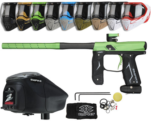 Empire Axe 2.0 Gun, EVS Googles & Prophecy Z2 Package Kit - Dust Black/Dust Olive