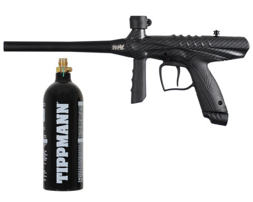 Gryphon Semi Automatic Paintball Marker W/ Free 20oz CO2 Tank - Carbon Fiber