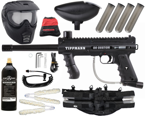 Gun Package Kit - Tippmann 98 Platinum w/ 4+1 Harness, 20oz CO2 Tank, GxG Mask & Remote Line