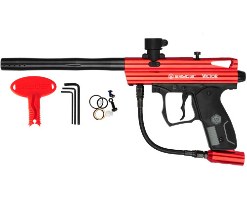 Spyder Victor Paintball Gun - Gloss Red