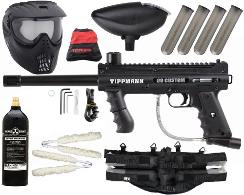 Gun Package Kit - Tippmann 98 Platinum w/ 4+1 Harness, 20oz CO2 Tank & GxG Mask