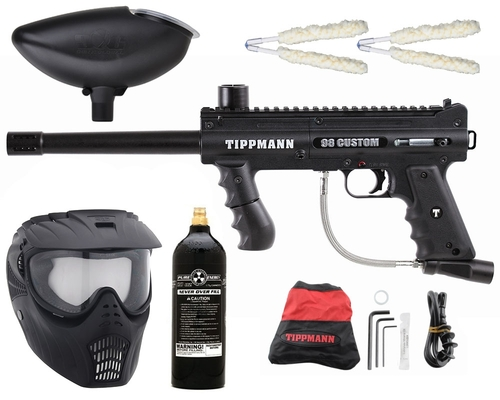 Gun Package Kit - Tippmann 98 Platinum w/ 20oz CO2 Tank & GxG Mask