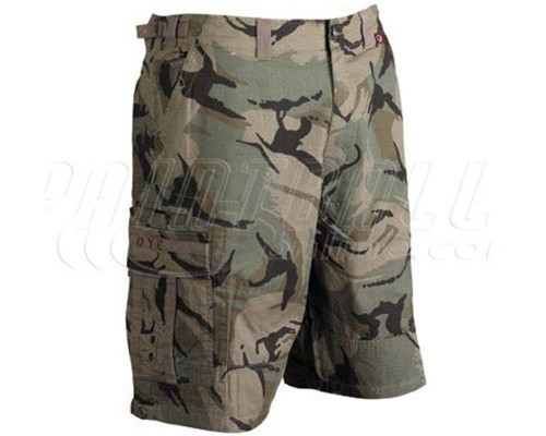Dye Fort Bragg Paintball Shorts - Olive Camo
