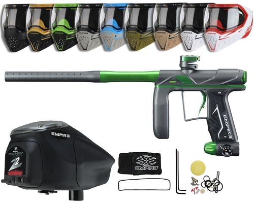 Empire Axe Pro Paintball Gun, EVS Googles & Prophecy Z2 Package Kit