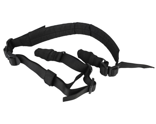 Aim Sports Quick Detach Multi-Point Padded Rifle Sling - Black (AOPS03B)