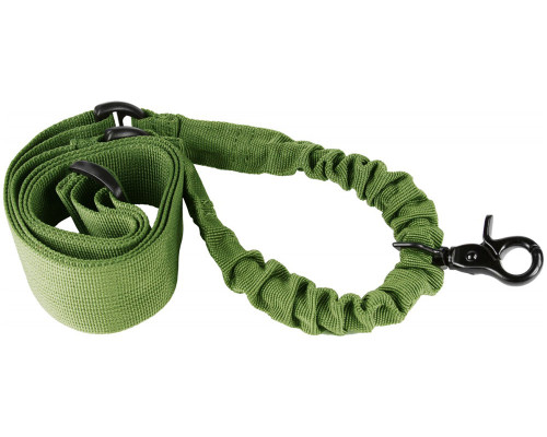 Aim Sports Quick Detach Single Point Bungee Rifle Sling - Green (AOPSG)