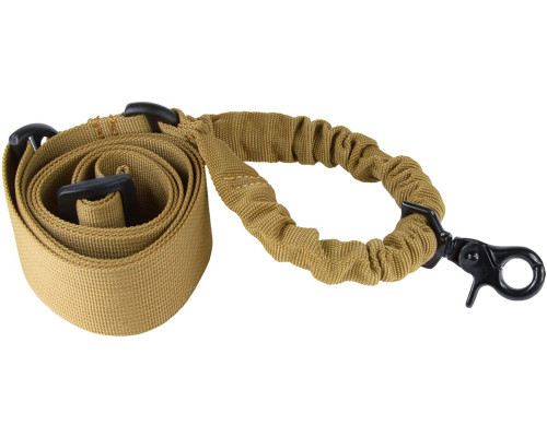 Aim Sports Quick Detach Single Point Bungee Rifle Sling - Tan (AOPST)