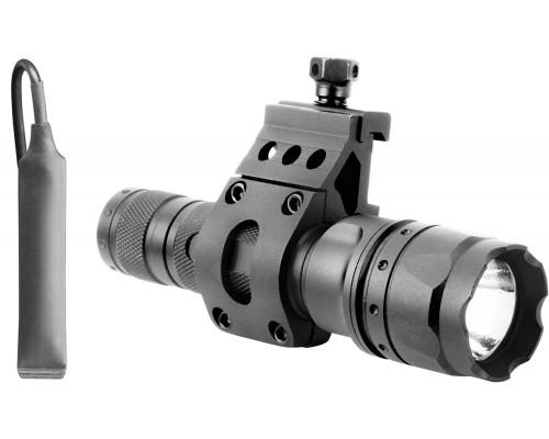 500 Lumen Aim Sports Rail Mounted Flashlight w/ 45 Degree Offset Mount (FHD500B)