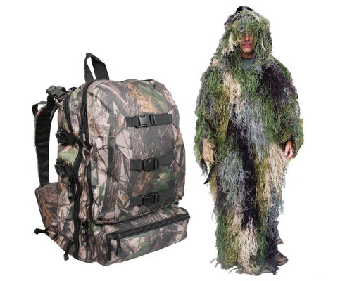 Bushrag Ghillie Suit - 4-In-1 Woodland Suit & Pack (64127)