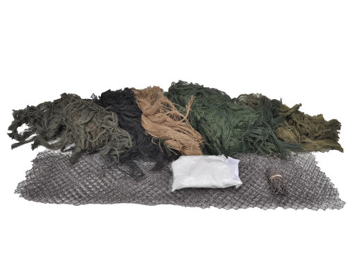 Bushrag Ghillie Suit - Large Woodland Customizable Kit (65110)