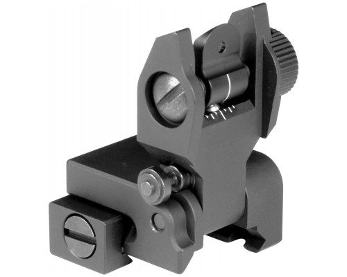 Aim Sports Rear Flip-Up Rail Mounted Sight For AR-15's (MT201)