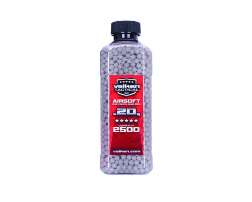 .20g Airsoft BB's - 2500 Count - Valken Tactical (White)