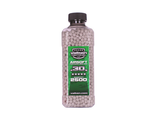 .30g Airsoft BB's - 2500 Count - Valken Tactical (White)