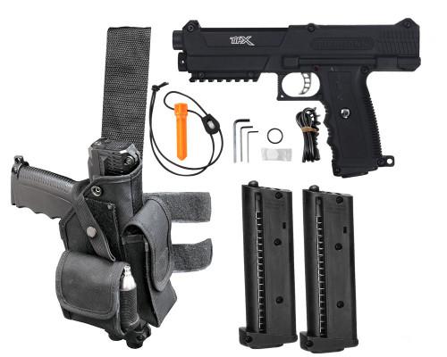 Tippmann Gun Package Kit - TiPX Pistol - Deluxe - Black/Black
