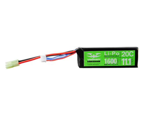 Valken Energy LiPo Airsoft Battery - 11.1v 1600mAh (48214)