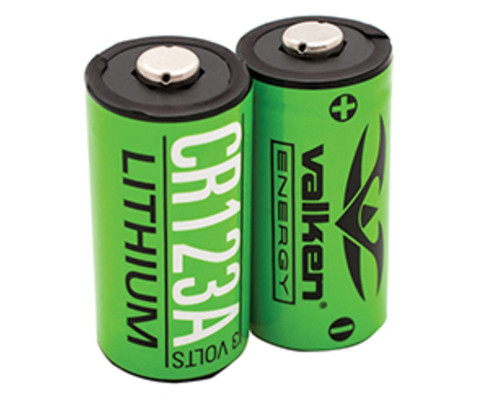 Valken Energy Battery - CR123A 3V Lithium (2 Pack) (48252)