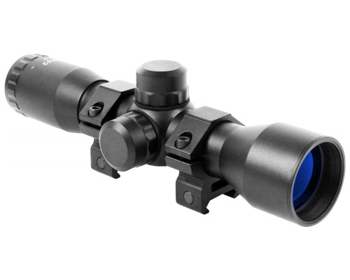 Aim Sports 4x32mm Tactical Series Compact Scope w/ Range Finder Reticle (JTR432B)