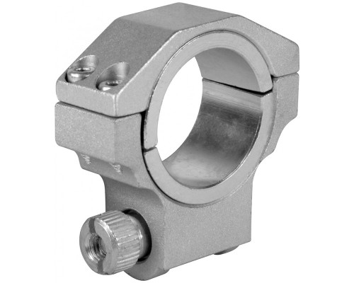 "Aim Sports Low 30mm Ring Scope Mount w/ 1"" Insert For Ruger - Silver (QRS01)"