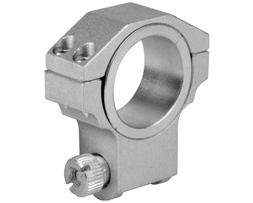 "Aim Sports High 30mm Ring Scope Mount w/ 1"" Insert For Ruger - Silver (QRS02)"